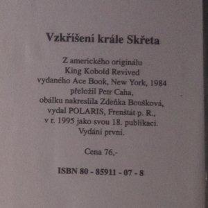 antikvární kniha Vzkříšení krále Skřeta, 1995