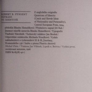 antikvární kniha Pátrání po identitě, 1996