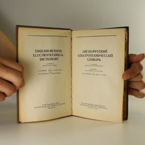antikvární kniha Англо-русский электротехнический словарь (English-Russian Electrotechnical Dictionary.), 1955