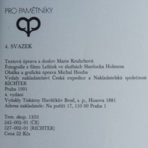 antikvární kniha František Lelíček ve službách Sherlocka Holmesa, 1991