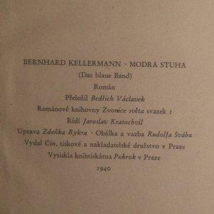 antikvární kniha Modrá stuha, 1940