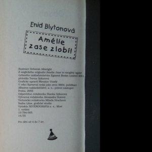 antikvární kniha Amélie zase zlobí, 2005