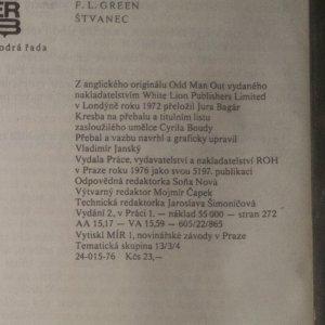 antikvární kniha Štvanec, 1976