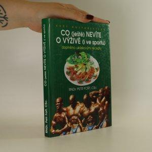 náhled knihy - Co (ještě) nevíte o výživě (i ve sportu)