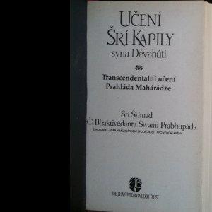 antikvární kniha Učení Šrí Kapily syna Dévahúti. Transcendentální učení Prahláda Mahárádže (neobsahuje tiráž), neuveden