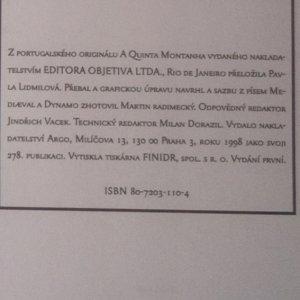 antikvární kniha Pátá hora, 1998