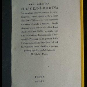 antikvární kniha Policejní hodina. Staropražský sociální román z let devadesátých, 1946