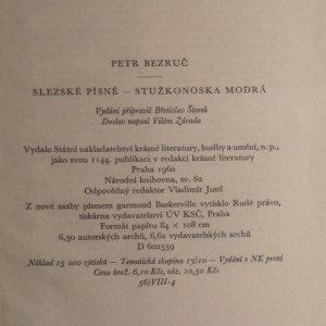 antikvární kniha Slezské písně. Stužkonoska modrá, 1960