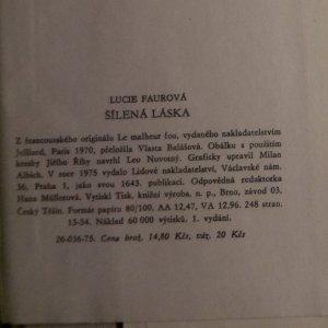 antikvární kniha Šílená láska, 1975