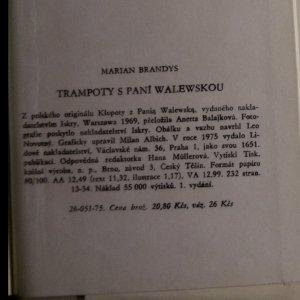 antikvární kniha Trampoty s paní Walewskou, 1975