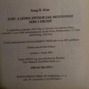 antikvární kniha Tisíc a jeden způsob jak motivovat sebe i druhé, 2003