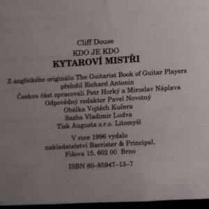 antikvární kniha Kytaroví mistři , 1996