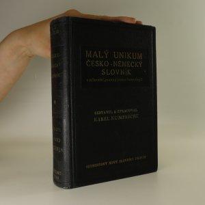 náhled knihy - Malý unikum česko-německý a německo-český slovník s mluvnicí, pravopisem a frazeologií.