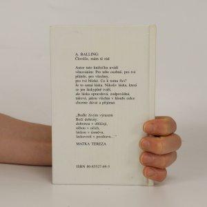 antikvární kniha Člověče, mám tě rád, neuveden