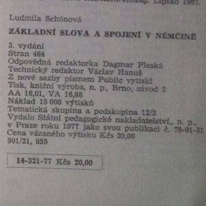antikvární kniha Základní slova a spojení v němčině, 1977