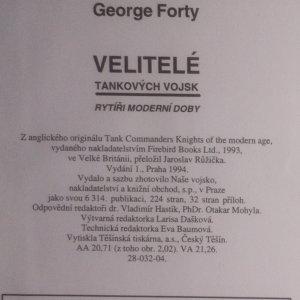 antikvární kniha Velitelé tankových vojsk. Rytíři moderní doby, 1994
