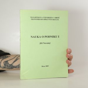 náhled knihy - Nauka o podniku I