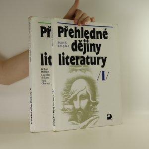 náhled knihy - Přehledné dějiny literatury. I. a II. díl. (2 svazky)