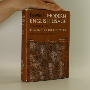 náhled knihy - Fowler's modern english usage