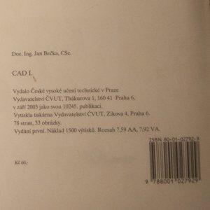 antikvární kniha CAD I., 2003
