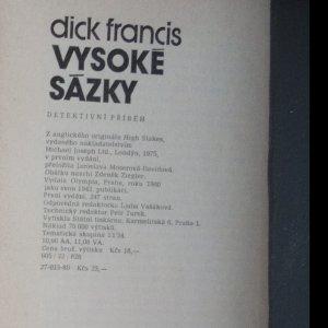 antikvární kniha Vysoké sázky , 1980