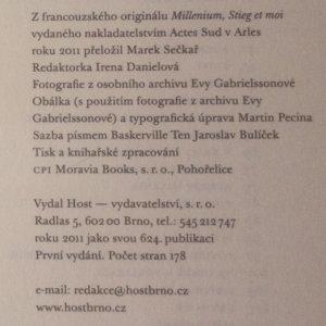 antikvární kniha Milénium, Stieg a já, 2011