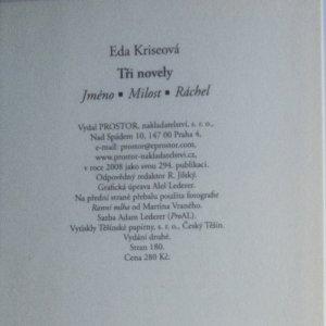 antikvární kniha Tři novely. Jméno. Milost. Ráchel, 2008
