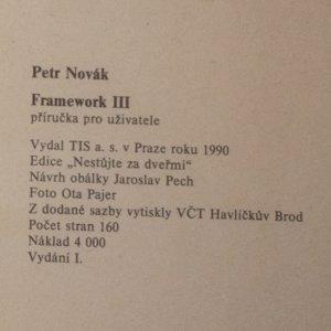 antikvární kniha Framework. Příručka pro uživatele, 1990