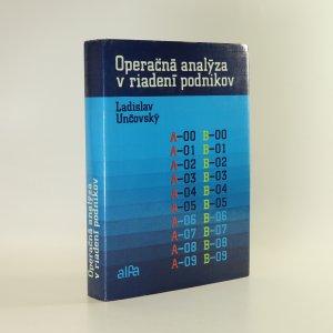 náhled knihy - Operačná analýza v riadení podnikov