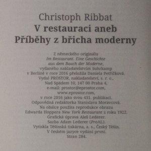 antikvární kniha V restauraci aneb Příběhy z břicha moderny, 2016