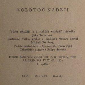 antikvární kniha Kolotoč nadějí, 1969