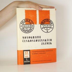 náhled knihy - Monografie československých známek. Díl 17, sv. 1., Československá poštovní razítka 1919-1939