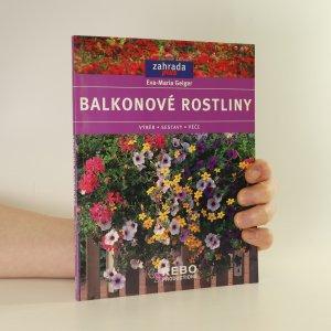 náhled knihy - Balkonové rostliny