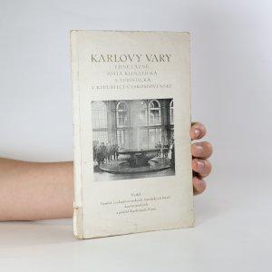 náhled knihy - Karlovy Vary i jiné lázně, místa klimatická a turistická v republice československé