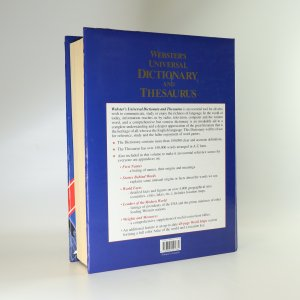antikvární kniha Webster's universal dictionary and thesaurus, 1993