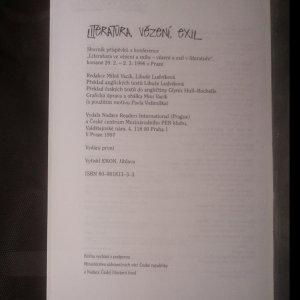 antikvární kniha Literatura, vězení, exil. Literature, prison, exile., 1997