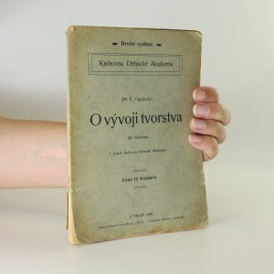 náhled knihy - O vývoji tvorstva dle Darwina. 1. svazek Knihovny Dělnické akademie