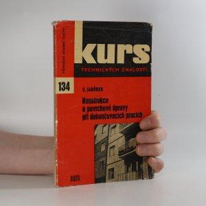 náhled knihy - Konstrukce a povrchové úpravy při dokončovacích pracích