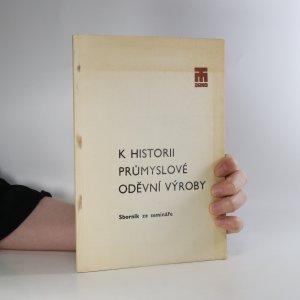 náhled knihy - K historii průmyslové oděvní výroby