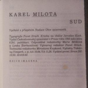 antikvární kniha Sud (podpis autora), 1993