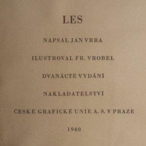 antikvární kniha Les, 1940