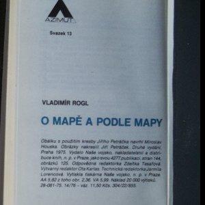antikvární kniha O mapě a podle mapy, 1975