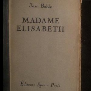 antikvární kniha Madame Elisabeth, neuveden