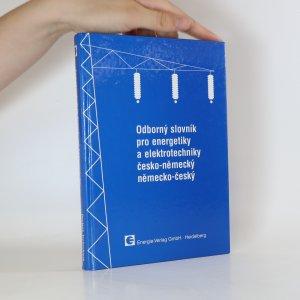 náhled knihy - Odborný slovník pro energetiky a elektrotechniky česko-německý, německo-český