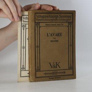 náhled knihy - L'Avare. Wörterbuch zu L'avare par Moliére. (2 svazky)