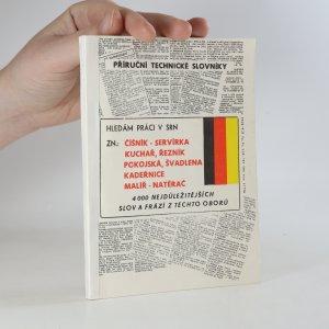 náhled knihy - Hledám práci v SRN zn. číšník - servírka, kuchař, řezník, pokojská, švadlena, kadeřnice, malíř - natěrač