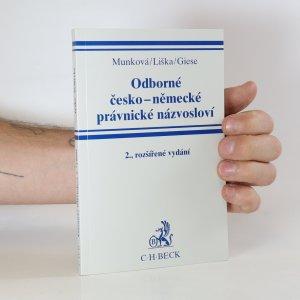 náhled knihy - Odborné česko-německé právnické názvosloví