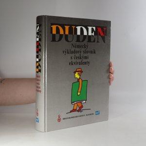 náhled knihy - Duden. Německý výkladový slovník s českými ekvivalenty