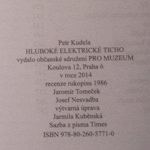 antikvární kniha Hluboké elektrické ticho, 2014