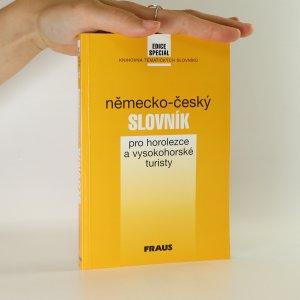 náhled knihy - Německo-český slovník pro horolezce a vysokohorské turisty
